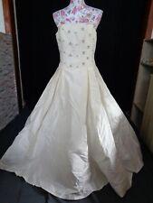 (106)Edles Damen Braut Standesamt Abend Kleid GR: 40