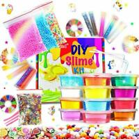 Slime Kit Slime Supplies w/ Glitter Jar Foam Bead & Unicorn Toys for Girls Boys