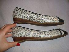 K by CLARKS  UK 6  EU 39   Leopard print Leather  low heels shoes