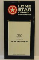 "Old Vintage 1960s Lone Star Cement Tin Metal Advertising Sign Made in USA 8""x16"""