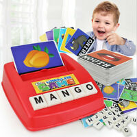 1Set early children educational toy fun learning english spell the word game ZD