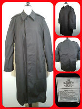 Army Trench Coat All Weather, Black w/ Removalble Fleece Liner Men's Size 36S