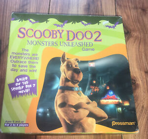 SCOOBY DOO 2 MONSTERS UNLEASHED BOARD GAME PRESSMAN RARE GAME NICE CONDITION
