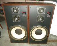 Vintage Pair MCS 683 Three Way Audio FLOOR SPEAKERS 200W Tested Sound Terrific