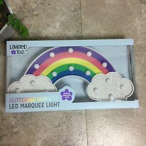 Limited Too Unicorn LED Marquee Light Pink Rainbow Iridescence