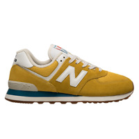 New Balance 574 Men's Yellow White Athletic Lifestyle Sneakers Casual Shoes