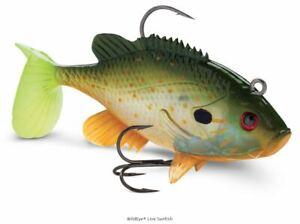 Storm WildEye Live Sunfish Soft Swimbait 3 pack Bass, Pike, & Muskie Swimbait