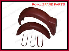 Royal Enfield Raw Constellation Super Meteor Front Rear Mudguards + Stays