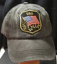 USA Flag Badge Low Profile Pigment Dyed Cotton Twill Hat Baseball Cap