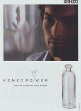 Publicité papier - advertising paper - kenzo Power de Kenzo