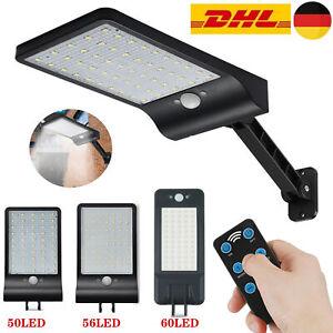 50-60 LEDs Solarleuchte mit Bewegungsmelder LED Solarstrahler Außen Fluter Lampe