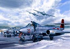 Gloster Meteor De Havilland Vampire RAF Fighter Aircraft Christmas Xmas Card