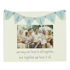 """Vintage Bunting Style Family Photo Frame Gift 6 X 4"""" Fw557fam"""