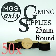 50x 25mm Round Laser Cut MDF Miniature Bases