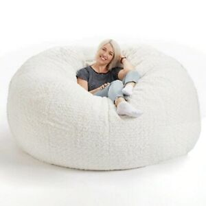 Soft Fluffy Wool fur beanbag Large Cashmere Fleece living room Lazy sofa Party