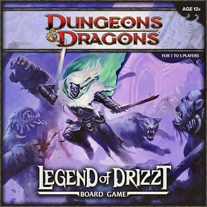 dungeons dragons: the legend of drizzt board game