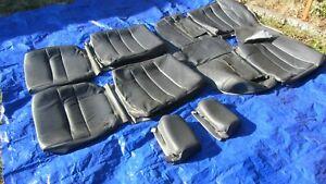 82-92 Volvo 740 GLE Leather Sedan Gray Full Set Seat Covers 8 Pieces 78k Miles