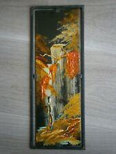 PANNEAU DECORATIF ANCIEN N°2 LAQUE VIETNAM ART ASIE 1950-60 PEINTURE ORIENT