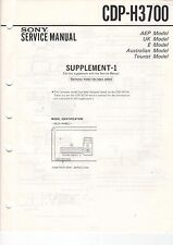 SONY Konvolut 4 Service Manual Supplements CDP-H3700, H3750, H4700, u.m. B1782