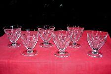 BACCARAT TALLEYRAND 6 WATER CRYSTAL GLASSES VERRE A EAU CRISTAL TAILLÉ ART DECO