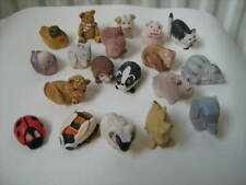More details for 19 x rare & early colour box hopscotch mini animal figures peter fagan