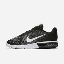 80a2f8f029ee Nike Air Max Sequent 2 Black White Grey 852461-005 Men s Running Shoes ...
