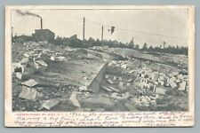 Granite Works MT. AIRY NC North Carolina Industrial Quarry UDB Surry County 1906