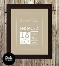 Engagement Personalised Print / Engagement Gift / FRAMED A4 PRINT