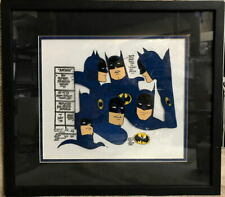 BATMAN SUPER FRIENDS MODEL CEL Framed Hanna Barbera w COA 1973 Rare