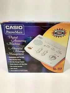 Casio Phonemate TA-117 digital answering machine New Open Box