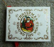 Vintage Navidad alrededor del mundo-Mini Libro de árbol de Navidad Ornamento-Rara Vintage