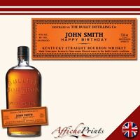 L3 Personalised Kentucky Bourbon Whisky Bottle Label - Perfect Gift Any Occasion
