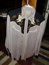 New ListingVintage H Bar C California Ranchwear Western Embroidered Shirt Large F11