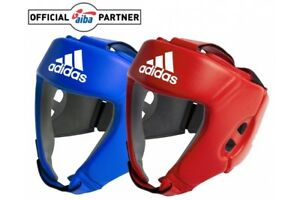 Adidas AIBA Licensed Headguard Boxing Head Guard Offiziell Open Face Protection