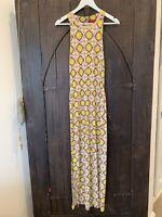 Tigerlily Dress Long Yellow Brown White Red Floral sleeveless XS BOHO 6 2 4 36
