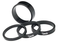 "Deda Carbon Headset Spacers black w/ white logo 1 1/8"" x 10mm (2-pack) Carbon"