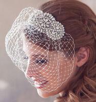 BEST SELLING Vintage Birdcage Veil and Comb , Bridal Comb ,Crystal Veil