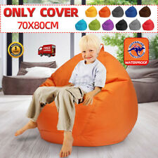 Home Large Bean Bag Chair Cover Lazy Lounger Sofa Couch Gamer Seat For Kids
