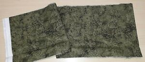 """New  Remnant 100% Cotton Fabric Green Tones Batik  Design - W 44"""" x L 7"""""""
