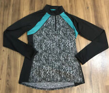 Marks & Spencer Womens Active Training Top UK Size 8 Long Sleeve Black Grey