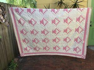 Vintage Patchwork Handstitched Quilt Basket Pattern