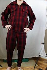 9fb7a4db7205c EARLY 1940'S WOOLRICH PLAID WOOL HUNTING JACKET 38 AND PANTS 34 SET