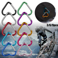 Accessories Keychain Clip Heart-shaped Buckles Aluminum Carabiner Keyring Hook