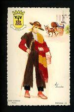 Embroidered clothing postcard Artist Elsi Gumier Portugal Baixo Alentejo man #13