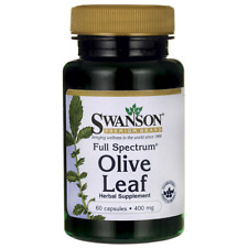 Swanson Premium Olive Leaf  Antioxydant for Immune System 400mg - 60 Capsules