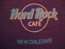 Vintage Hard Rock Cafe New Orleans Souvenir Purple Cotton T Shirt Size L