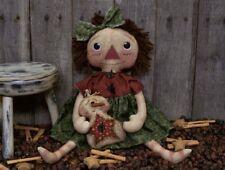 PATTERN Primitive Raggedy Ann Doll & Snowman Ornie Doll w/ Star Tummy FREE SHIP