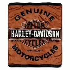 Harley-Davidson Genuine Soft Plush Throw Blanket Measures 60 by 80 inches
