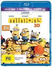 *New & Sealed* Minions 3D (Blu-ray 3D + 2D + UV, 2015, 2-Disc Set) Region B AUS