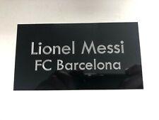 Lionel Messi - 130x70mm Engraved Plaque / Plate For Signed Barcelona Shirt Frame